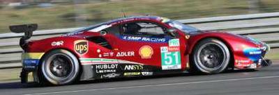 1/43  Ferrari 488 GTE EVO No.51 Winner LMGTE Pro class 24H Le Mans 2019 AF Corse   J. Calado - A. Pi