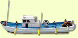1/150  情景小物009 漁船A