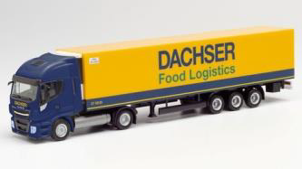 """1/87 Iveco Stralis NP冷蔵ボックストレーラー""""Dachser Food Logistic"""""""