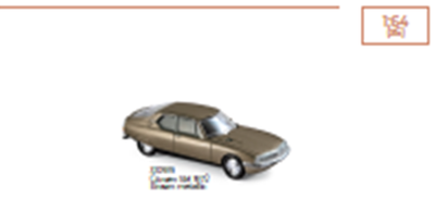 1/64シトロエン SM 1972 メタリックブラウン