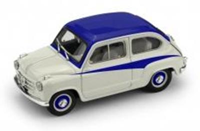 """1/43""""フィアット 600 DERIVAZIONE ABARTH 750 1956  グレー/ブルー"""""""