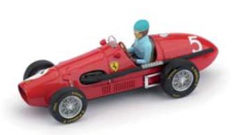 """1/43""""フェラーリ 500  F2 1953年 イギリスGP 優勝  #5  A.Ascari  ドライバーフィギュア付"""""""
