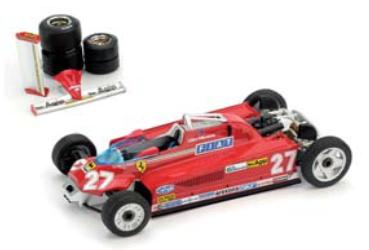 """1/43""""フェラーリ 126 CK turbo   1981年モナコGP  優勝 #27  Gilles Villeneuve   輸送バージョン"""""""