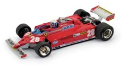 """1/43""""フェラーリ 126 CK   1981年モナコGP 4位   #28  Didier Pironi"""""""