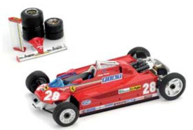 """1/43""""フェラーリ 126CK turbo   1981年モナコGP  4位   #28  Didier Pironi 輸送バージョン"""""""