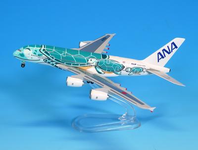 1/500  A380 JA381A ANAブルー (ギアつきWiFiレドームつき)ABS完成品(スタンド付)