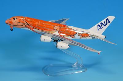 1/500  ANA  A380 JA383A サンセットオレンジ (ギアつきWiFiレドームつき)ABS完成品(スタンド付)