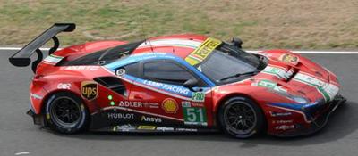 Looksmart 1/43 Le Mans 2020  Ferrari 488 GTE EVO No.51 AF Corse   J. Calado - A. Pier Guidi - D. Ser