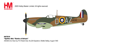"""1/48 スピットファイアMk.Ⅰ """"イギリス本土防空戦 第234飛行隊"""""""