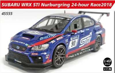1/43  SUBARU WRX STI Nurburgring 24-hour Race 2018 No.90 【レジン】