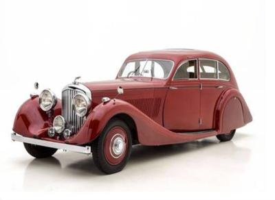 """1/43""""ベントレー 4.5L Gurney-Nutting Airflow Saloon  1936 レッド"""""""