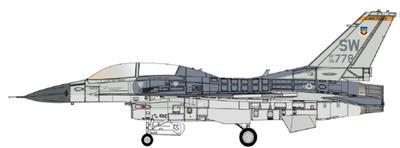 """1/72  F-16D USAF 19 FS """"Mig Killer"""" Dec 1992"""