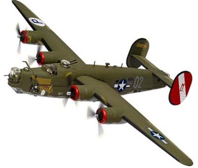 """1/72  コンソリデーテッド B-24 リベレーター""""Witchcraft"""" 130ミッションズ"""