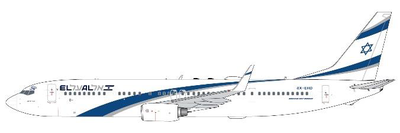 "1/400  737-900ER エルアル イスラエル航空 ""Peace"" 4X-EHD"