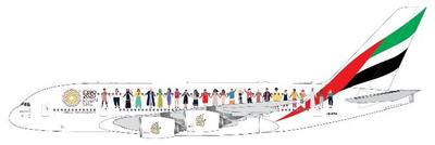"1/400  Ā380 エミレーツ航空 ""Year of Tolerance"" A6-EVB"
