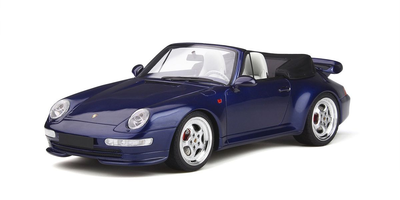 1/18  Porsche 911 (993) Turbo cabriolet (Blue)
