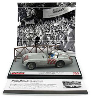 1/43 メルセデス 300 SLR 1955年ミッレミリア 1位  #722 Stirling Moss/Denis Jekinson