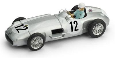 1/43 メルセデス W196 1955年イギリスGP 1位 #12 Stirling Moss ドライバーフィギュア付