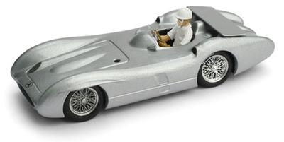 1/43メ ルセデス W196C 1955年モンツァ高速リング テストカー Stirling Moss ドライバーフィギュア付