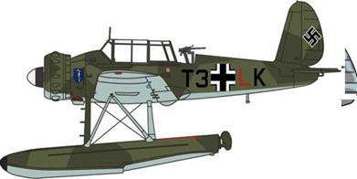 1/72アラド 196 Bordflieger Staffel ビスマルク 1941