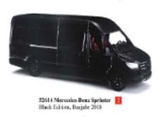 1/87メルセデス ベンツ スプリンター ブラック 2018