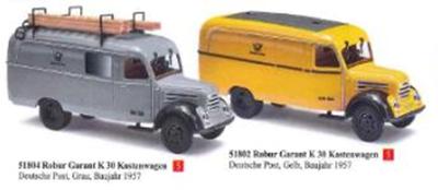 "1/87Robur Garant K30 パネルバン ""Deutsche Post"" 1957 グレー"