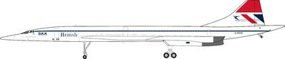 1/200  コンコルド ブリティッシュ・エアウェイズ 旧塗装 G-BOAC