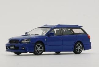 """1/64""""スバル 2002 レガシィ e-tune II ブルー (RHD)"""""""