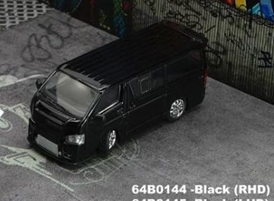 1/64 トヨタ ハイエース 2015 ブラック RHD