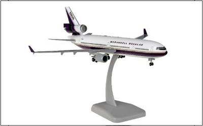 """1/200""""MD-11 マクドネル・ダグラス デモカラー ランディングギア・スタンド付属"""""""