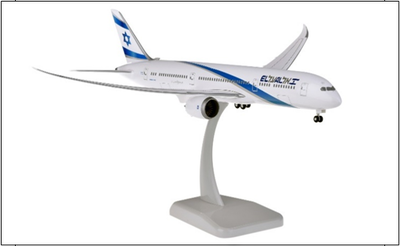 1/200  B787-9 エル・アル・イスラエル航空 ランディングギア・スタンド付属