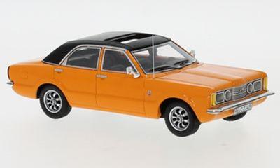 """1/43""""フォード タウナス GXL 4ドア 1973  オレンジ/ブラック"""""""
