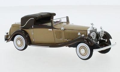 """1/43""""ロールス・ロイス ファントム II コンチネンタル DHC Gurney Nutting 1934  ライトブラウン/ダークブラウン RHD"""""""