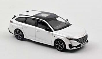 1/43プジョー 308 SW GT 2021 パールホワイト