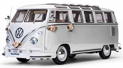 "1/12  VW サンバ 1962  ウェディングバージョンホワイト"""