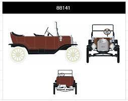 フォード モデルT ツーリング コンバーチブル 1915 レッド
