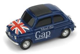 フィアット ニュー 500 イングランド Mind the gap God save the Queen