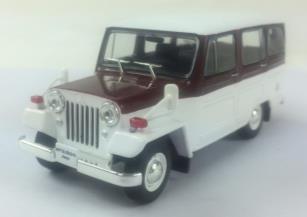 三菱 ジープ 1961年 ホワイト &  ワインレッド
