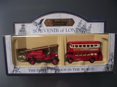 Hamleys 消防車&ロンドンバス2台セット
