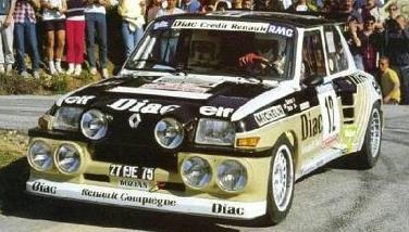 Renault 5 MAXI turbo (#12) 1985 Tour de Corse