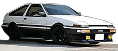 Toyota Sprinter Trueno 3Dr GT Apex (AE86) White/Black