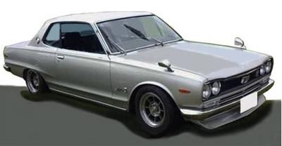 Nissan Skyline 2000 GT-X (KGC10) Silver  ※Hayashi-Wheel