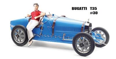 ブガッティ T35 1924 ブライトブルー 女性ドライバーフィギュア付
