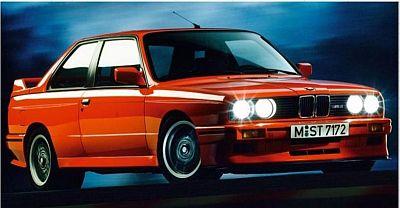 otto modile  BMW M3 (E30) スポーツ エボリューション       ブリリアントレッド