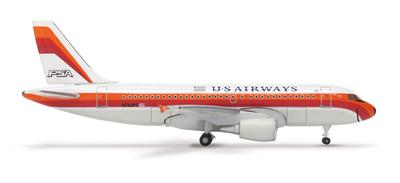 A319 USエアウェイズ 「PSA ヘリテージカラー」 アメリカ