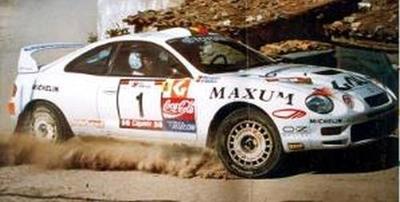 """トヨタ セリカ Gt-Four """"Galp"""" 1996年ポルトガルラリー 1位"""