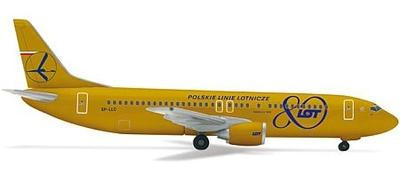 B737-400 LOTポーランド航空 (80周年記念塗装)