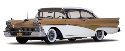 フォード フェアレーン 500 ハードトップ  1958 ホワイト/ライトブラウン