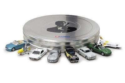 限定 007 ジェームス・ボンド  8-Piece Film Can Car Set 1:60