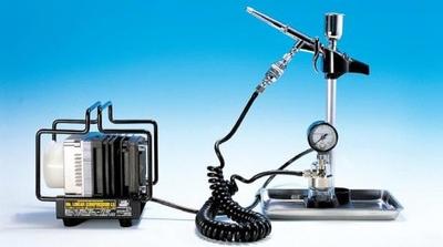 [Mr.HOBBY] リニアコンプレッサー L5 / LWAトリガーブラシ・圧力計付レギュレーターセット